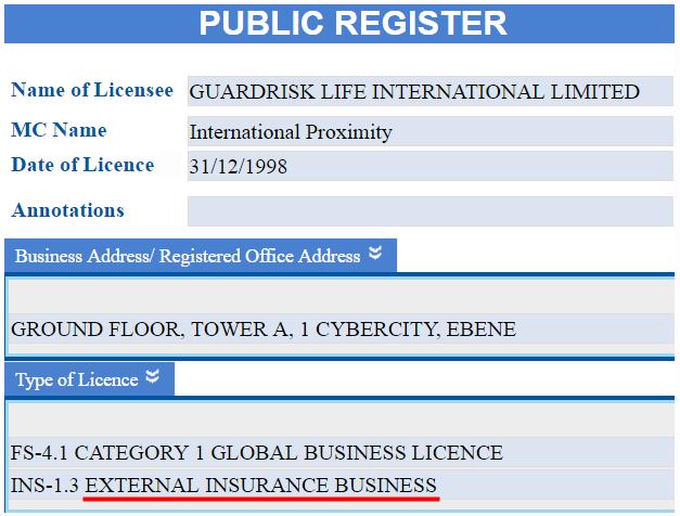 Unilife: лицензия Guardrisk на право страхования жизни
